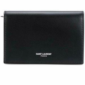 Saint Laurent Fragments Flap Wallet